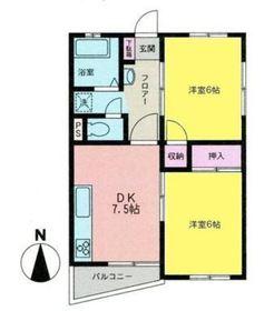 ベルオーク永田東2階Fの間取り画像