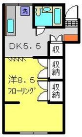 YMハイツ2階Fの間取り画像