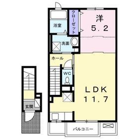 エアリーガーデン2階Fの間取り画像