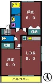 サンボナール(高津東)1階Fの間取り画像
