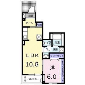 本厚木駅 バス32分「春日台団地」徒歩9分1階Fの間取り画像