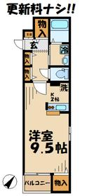 サンステージ永山2階Fの間取り画像