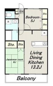 サンフィールドマンション2階Fの間取り画像