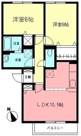 ドエルKII3階Fの間取り画像