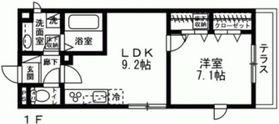 La Maison 九段坂上A1階Fの間取り画像