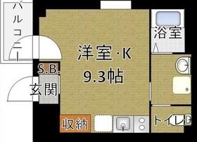 b'CASA HigashiGinza4階Fの間取り画像