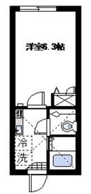 ルークス武蔵小杉1階Fの間取り画像