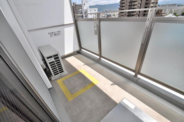 ゼファー東大阪 バルコニーは陽当たりが良く、洗濯物も気持ち良く乾きます。