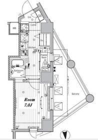 メイクスデザイン神楽坂4階Fの間取り画像