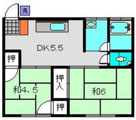 武美荘A2階Fの間取り画像