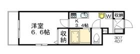アベニューコート イタニ A.Y3階Fの間取り画像
