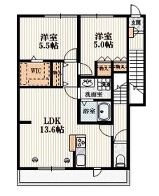 武蔵関 泉ハイツ2階Fの間取り画像