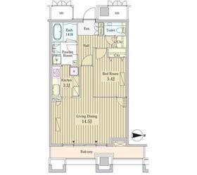 MOMENTO SHIODOME22階Fの間取り画像