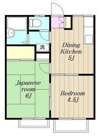 エステートピアグリーン2階Fの間取り画像