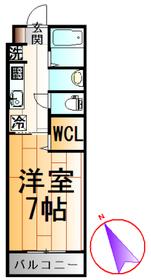 洋室7帖には、ウォークインクローゼットもあるので、広々と利用できます