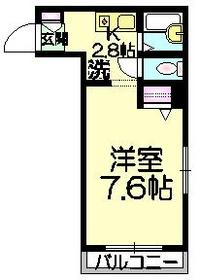 ボヌール・メゾン小淵3階Fの間取り画像