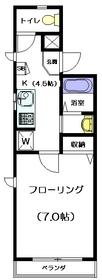 フローレンス・ヴァンフリート4階Fの間取り画像