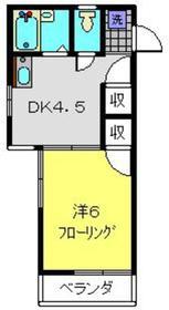 コーポミューズ2階Fの間取り画像