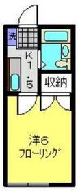 日吉シティーハイム2階Fの間取り画像