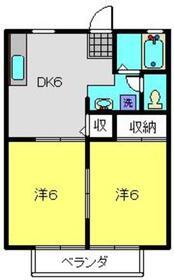 ル・シェール2階Fの間取り画像