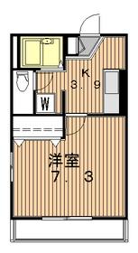 ハネギハウス1階Fの間取り画像