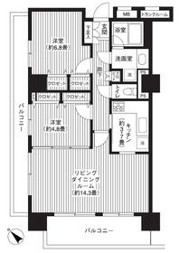 グランピラー高井戸8階Fの間取り画像