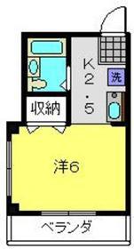 元住吉駅 徒歩3分3階Fの間取り画像
