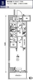 スカイコート木場ガーデン5階Fの間取り画像