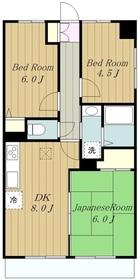 ラフィネ相武台31階Fの間取り画像