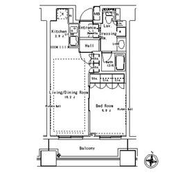 パークアクシス御茶ノ水ステージ15階Fの間取り画像