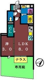 MYU東船橋1階Fの間取り画像