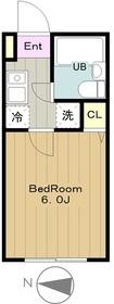 メゾンコリーナ1階Fの間取り画像