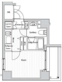 ベルグレードYS8階Fの間取り画像
