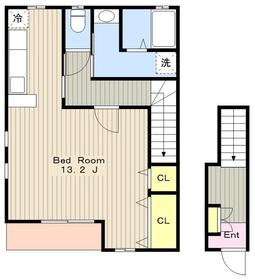 ニューポテトハウス2階Fの間取り画像