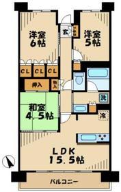 パークホームズ若葉台ステーションサウス3階Fの間取り画像