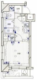 パークウェルツインズ西新宿ノースピア3階Fの間取り画像
