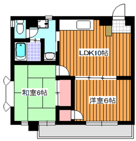 地下鉄赤塚駅 徒歩15分3階Fの間取り画像