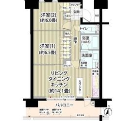 ガーデニエール砧レジデンス8階Fの間取り画像