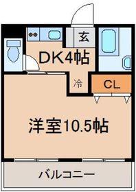 昭島駅 徒歩5分4階Fの間取り画像