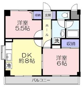 ウイング上福岡6階Fの間取り画像