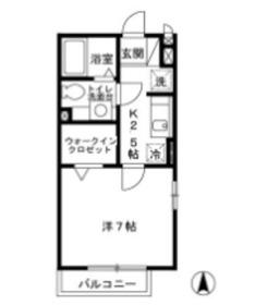 グリーンヒルズSAKAUE2階Fの間取り画像