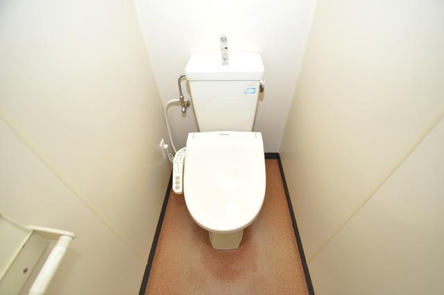セントラルパーム 清潔感たっぷりのトイレです。入るとホッとする、そんな空間。