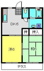 ヒルクレストA1階Fの間取り画像