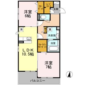 湘南台駅 バス8分「大下」徒歩3分1階Fの間取り画像