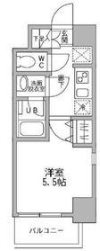 パークフラッツ横濱平沼橋5階Fの間取り画像