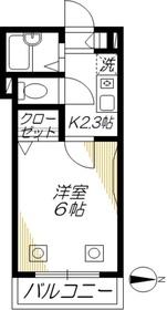ブルーラパン2階Fの間取り画像
