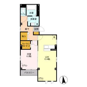 グランドソレイユ青葉台4階Fの間取り画像