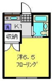 第八シンエイハイム2階Fの間取り画像