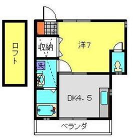 ベルメイト2階Fの間取り画像