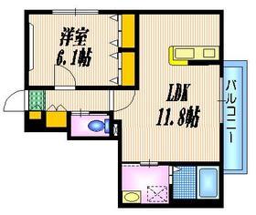 永福町駅 徒歩10分1階Fの間取り画像
